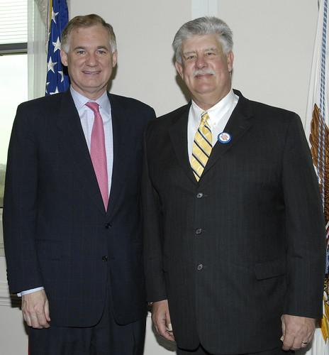 Department of Defense Deputy Secretary Bill Lynn and AFGE National President John Gage