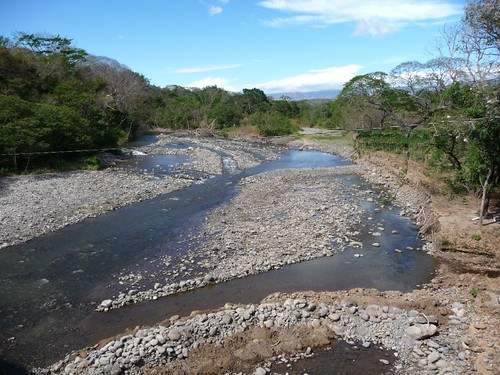 River crossing in the tropical lowlands - Costa Rica.