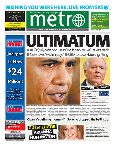 Portada Metro Huffington