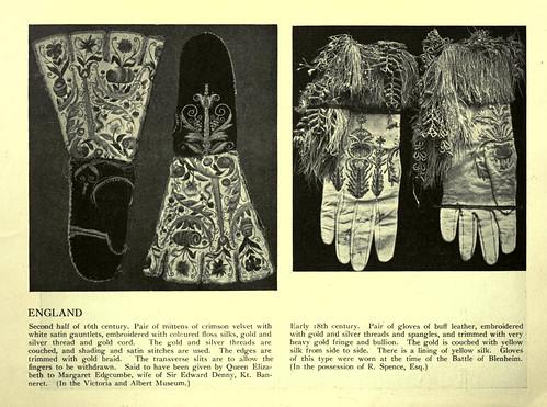018-Mitones y guantes bordados ingleses siglos XVI y XVIII