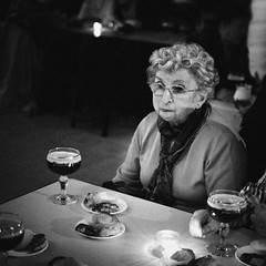 (Everything and the rest) Tags: old party portrait bw woman beer countryside tango empanadas
