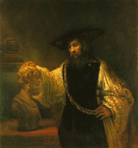Rembrandt van Rijn (1606-1669) - 1653 Aristotle Contemplating a Bust of Homer
