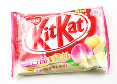 Kitkat White and Yellow Peach Bag