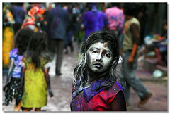 Impermeable [..Dhaka, Bangladesh..] (Catch the dream) Tags: portrait people color colors girl sadness colorful sad merriment bongo joy dhaka holi occasion bengal bangladesh bengali bangladeshi poignant impermeable olddhaka purandhaka hindus festivalofcolors dolpurnima gettyimagesbangladeshq2