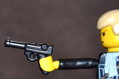 Brickarms Luger P08 custom minifig pistol