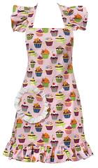 Carolyn's Kitchen Pink Cupcake Apron