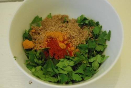 spices and cilantro