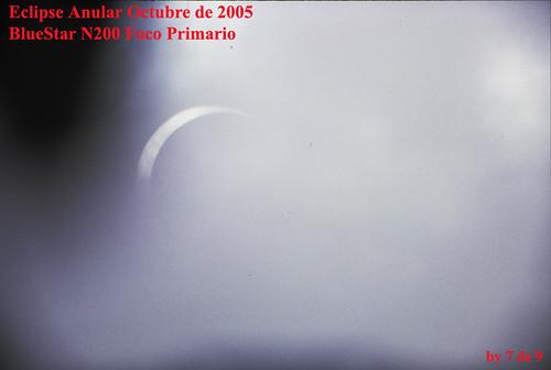 Saliendo del eclipse anular. No estabanos en la zona ideal para ver centrada a la luna y el sol.