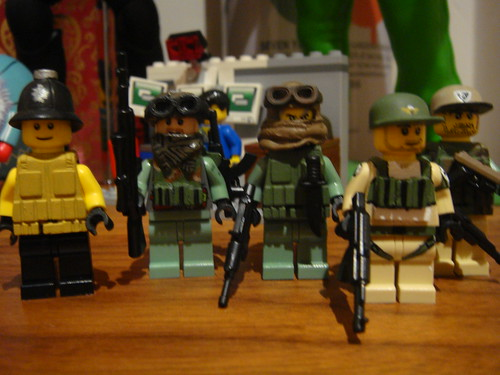 Custom minifig Private military contractors and english bobby