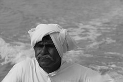 Old Seaman (Nima A.) Tags: old sea portrait canon island eos blackwhite persian gulf qeshm gheshm seaman 50d yourcountry efs18200mmf3556is