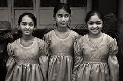 choir girls (nandadevieast) Tags: travel girls bw india dress anuragagnihotri nandadevieast