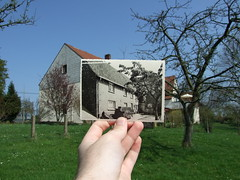 Looking Into the Past: Home (S!nky) Tags: blue house history home looking hometown haus historic past 2009 pictureinpicture pnp timeandspace