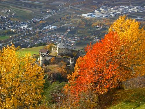 Ein herbstlicher Blick ins Tal - Vinschgau