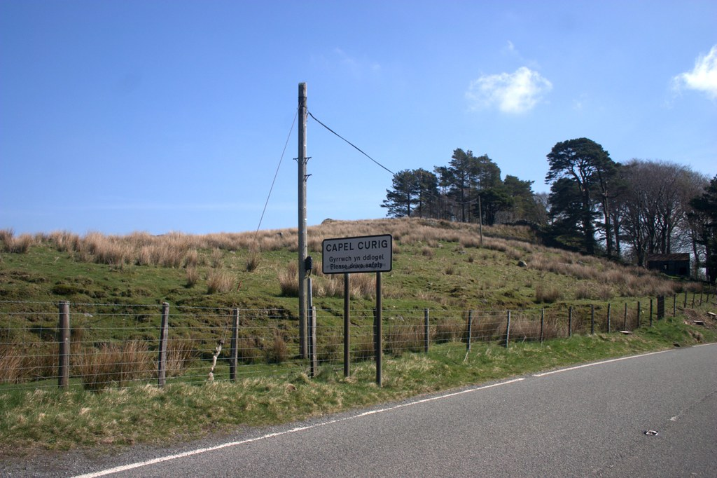 Capel Curig sign