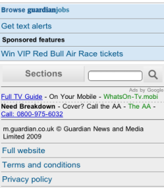 Guardian mobile ads