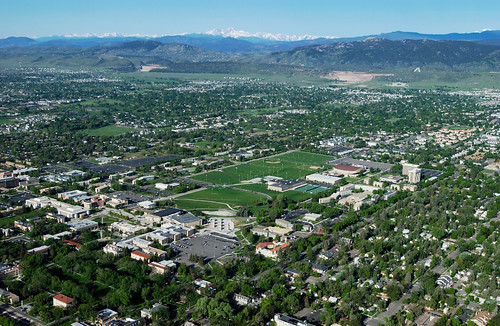 Aerial View of Colorado State University Campus
