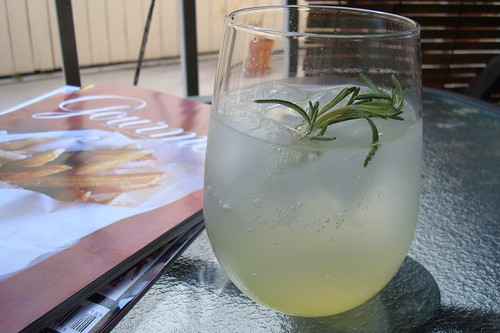 Rosemary Vodka Lemonade Fizz