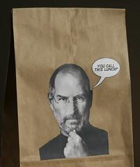 Sack-O-Steve Lunch Bag (Lunch with Steve) Tags: art apple diy mac designer crafts stevejobs iphone lunchbag macmod sackosteve