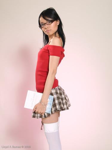 photo asia sexy: Cute Asian Girl In School Girl Uniform