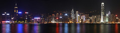 Hong Kong skyline panorama at night (hugolim.com) Tags: panorama reflection night buildings hongkong nightscene kowloon ifc bankofchinatower tsimshatsui hongkongisland neonlight nightlandscape buildingreflection nightskyline skycrappers buildinglight nightskyscape wordasiacity