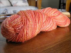 Blood Orange yarn