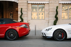 Mercedes SLR 722 S Duo (Tex Mex (alexandre-besancon.com)) Tags: red white paris france slr car mercedes s mclaren supercar qatar blackrims 722 722s