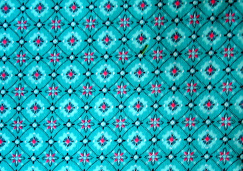 turquoise geometric print