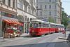 Siebensterngasse - Wien (Austria) (Meteorry) Tags: vienna wien red public rouge austria österreich europe transport tram facades streetcar e1 tramway vienne autriche beiwagen meteorry publique triebwagen berfin siebensterngasse wienerstadtwerke