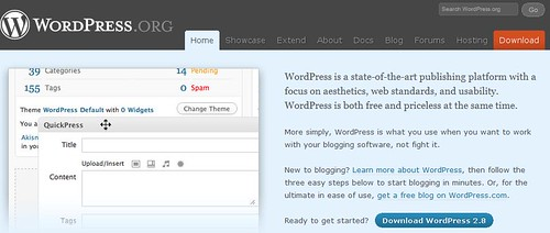 WordPress Version 2.8