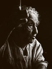 Bubbe at 96 and 3/4 (She's now 98) (alan shapiro photography) Tags: family portrait bw monochrome mono grandmother character bn expressive greatgrandmother bubbe blackdiamond 2010 matriarch ashapiro515 memorycornerportraits almost97 2010alanshapiro alanshapirophotography wwwalanwshapiroblogspotcom 2010alanshapirophotography