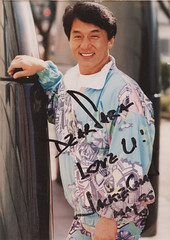 Jackie Chan (WOLF CHOIR) Tags: jackiechan crazystunts actionstar pure90s whatishewearing jackiechanautograph stuntblooperreel kickthroughladder getsinjuredalot whatisheleaningagainst