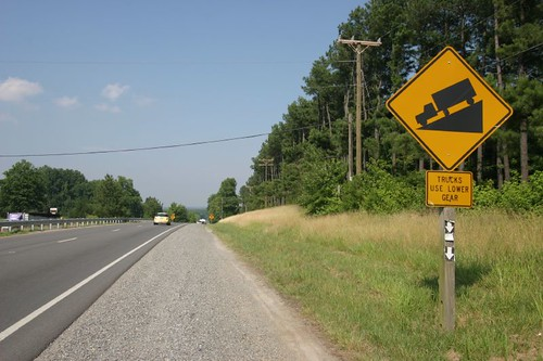 A rare sign in an otherwise flat-flat east coast USA.
