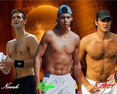 Nole, Rafa y Roger (RoxyArg) Tags: de fotos sexies masculinos tenistas