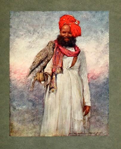 019-Un halconero de Rajgarh-The people of India 1910