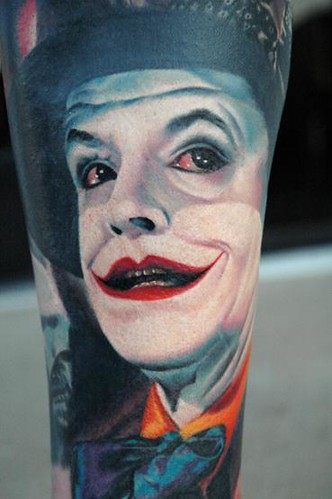 Joker Tattoo. i love the joker from batman
