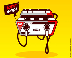 Walkman hate iPods (IsraSeyd) Tags: apple illustration design ipod walkman sony wo diseo vector ilustracion w wostore