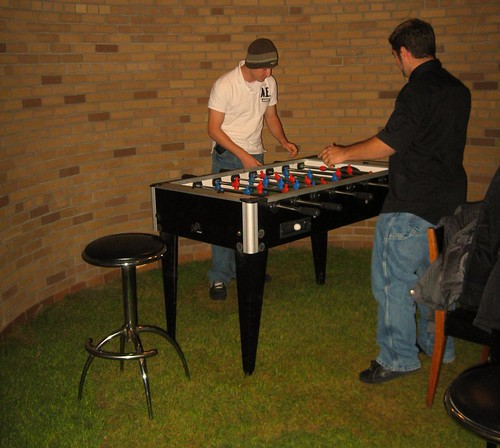 Playing foosball in a turfed POETS