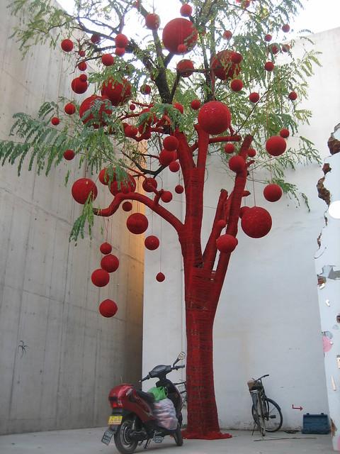 Árbol tejido - knitted tree