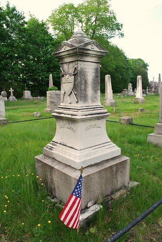 Gravesite of Civil War Lt Marvin Wait