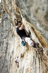 Andreas on Elliniko Koproskylo 7c (Vertical Planar - planars.wordpress.com) Tags: rock athens greece climbing limestone rockclimbing tufa tufas hymettos    vrahokipos  vrachokipos wwwathensclimbingcom