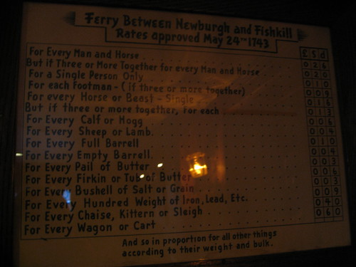 Ferry rates in 1793