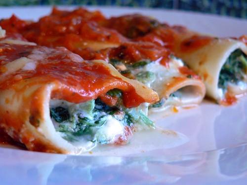 Ricotta & Spinach Cannelloni Recipe