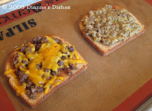 Sausage and Cheese Two Ways: After Broiling