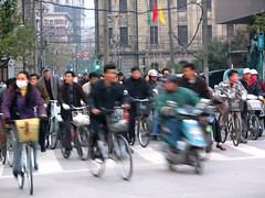 Bicyclists in Shanghai