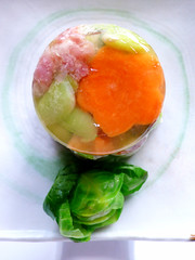 """danish garden salad"" aka aspic of evil aka miss congealiality (chotda) Tags: ackack vegetables stuff um bunchofpants congealed gelatin aspic vintagerecipes socalledsalad rockinitoldschool misscongealiality"
