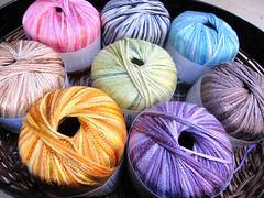 Summer colours (sifis) Tags: summer knitting greece cotton yarns  sakalak