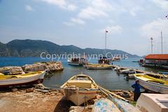Simena harbor 2 (Lynn photographing the world) Tags: sea water turkey island harbor boat dock mediterranean village türkiye turkiye türkei turchia simena simenaharbor