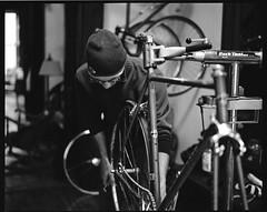 building the rensho (L. Buckholz) Tags: bike bicycle trix bronica diafine singlespeed medium format steven gs1 3rensho