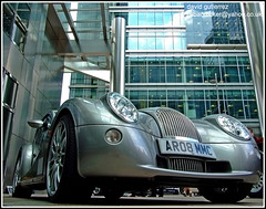 Morgan Aero  8 at Canary Wharf London (ArtOnWheels) Tags: uk urban london cars car architecture wheels transport motor morgan canarywharf aero londoncars motorexpo morganaero8 worldcars