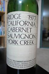 1977 Ridge York Creek Cabernet Sauvignon